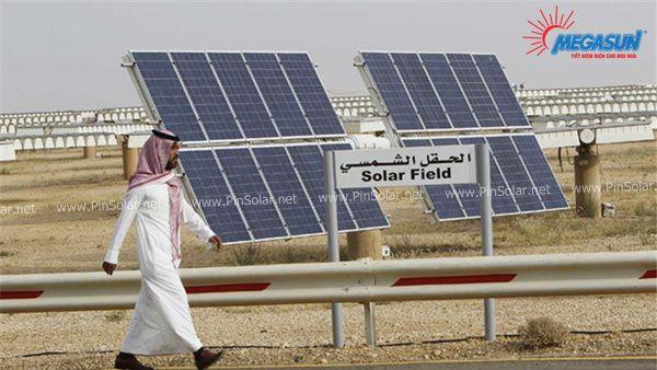 Những cánh đồng pin Năng Lượng Mặt Trời tại Saudi Arabia