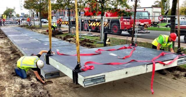 Hà Lan: Gạch lát đường là pin năng lượng mặt trời