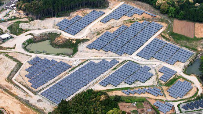 Mô hình dự án điện mặt trời trên sân golf của Tập đoàn Kyocera - Ảnh: Kyocera
