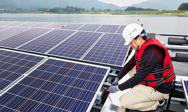 LG tính xây nhà máy năng lượng mặt trời trên mặt nước